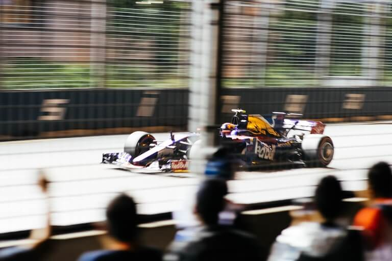 formula 1 car photo in focus
