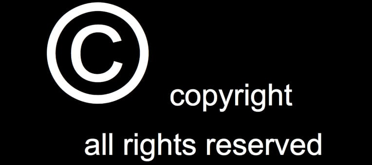 The copyright symbol protects rights to intellectual property