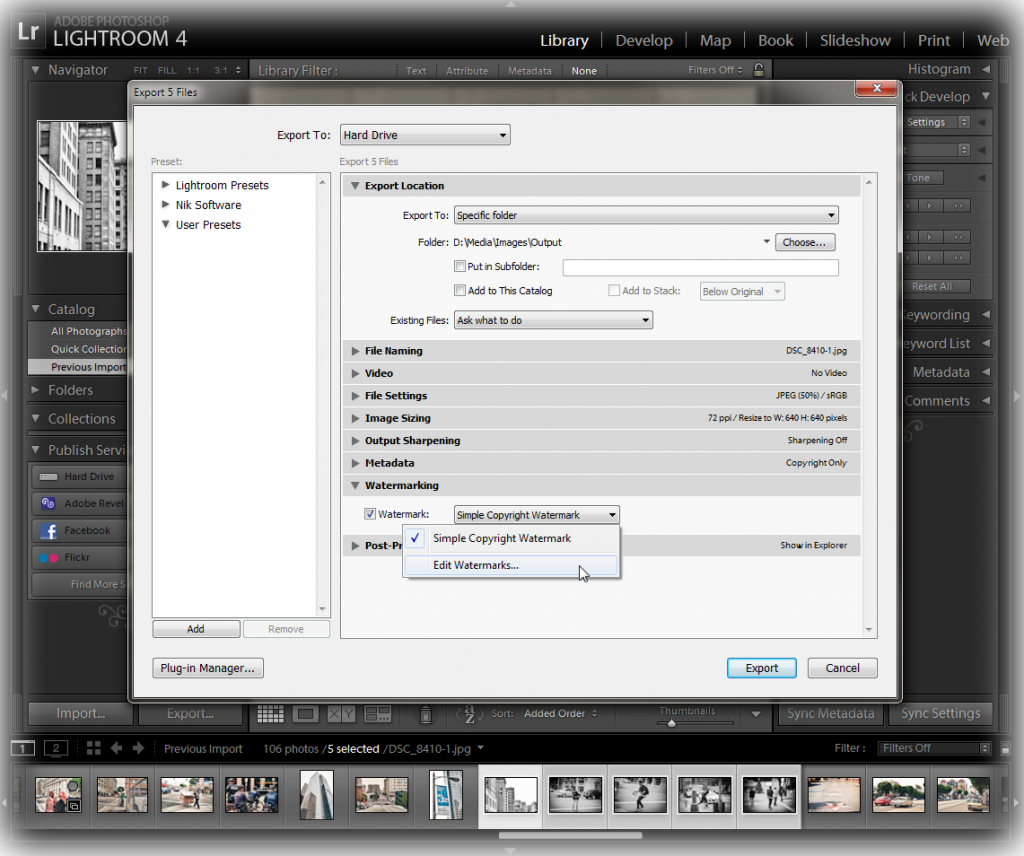 how to add text to a photo in photoshop lightroom 4