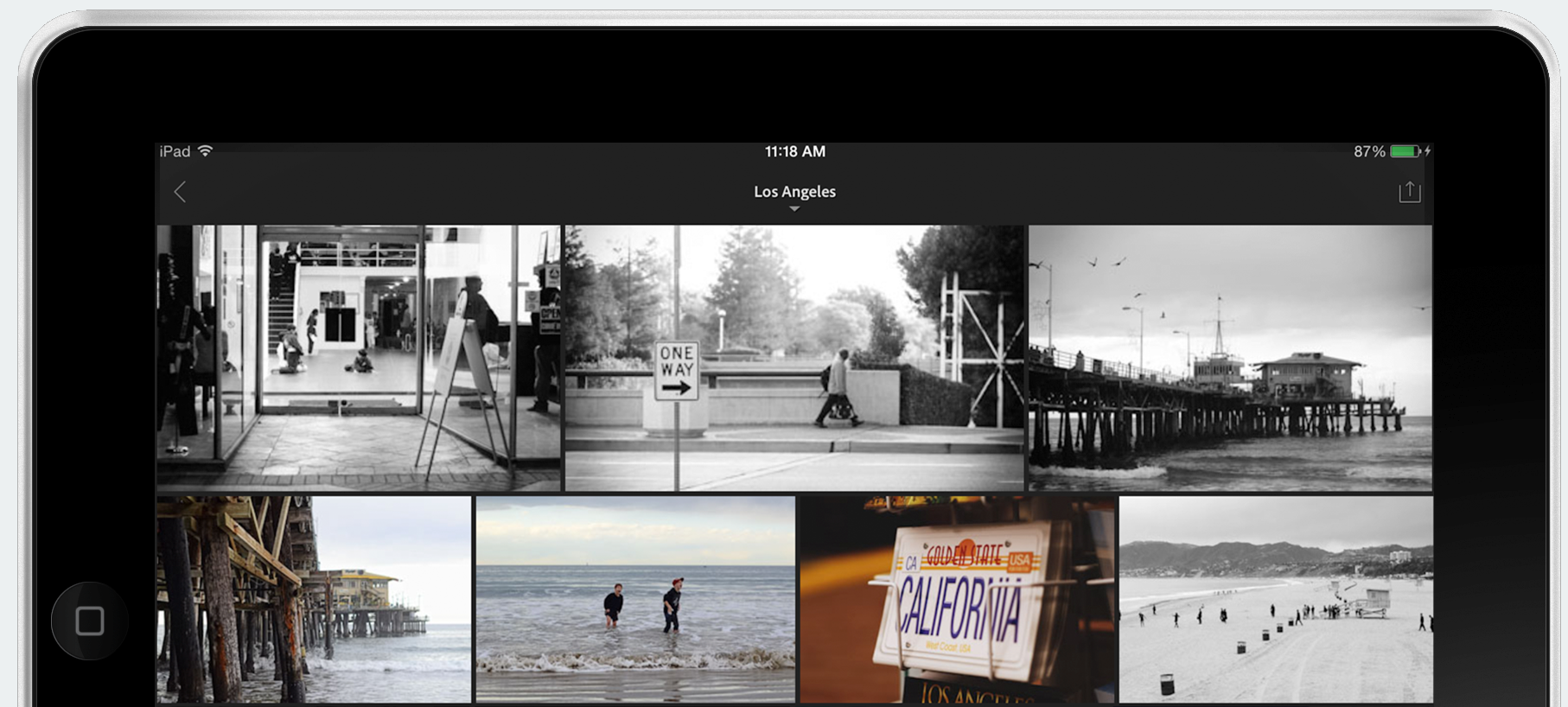 Analyse d'Adobe lightroom pour iPad