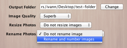 Rename and number photos