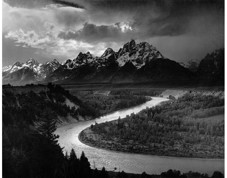 'The Tetons and the Snake River' by Ansel Easton Adams, 1942