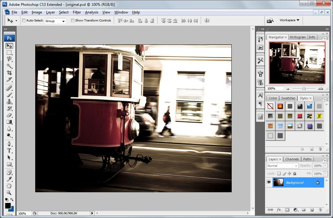Batch watermarking in Photoshop tutorial - Step #1 - Open a photo