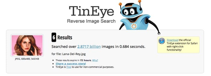 TinEye Search Results