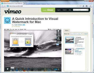 Video Tutorial on Vimeo